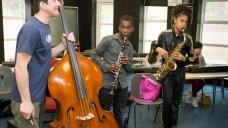 BCMG musician Ben Markland working with Zigzag ensemble