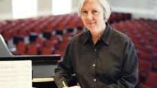 Judith Weir composing at the piano