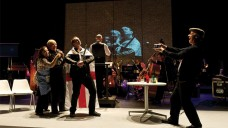 Music Theatre Wales' Greek on-stage