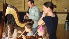 Creating music at Family Music Maze