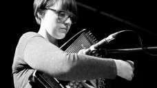 BCMG Productions Coordinator Hannah Fathers playing the autoharp
