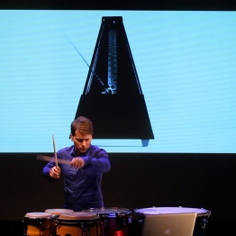 Percussionist Joby Burgess, credit Kathy Hinde
