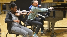 A Feel the Buzz workshop led by composer Fraser Trainer