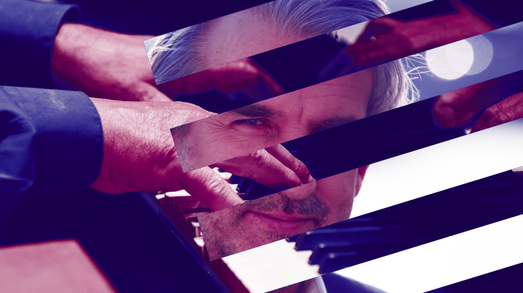 BCMG promotional image of pianist Barry Douglas with hands playing piano