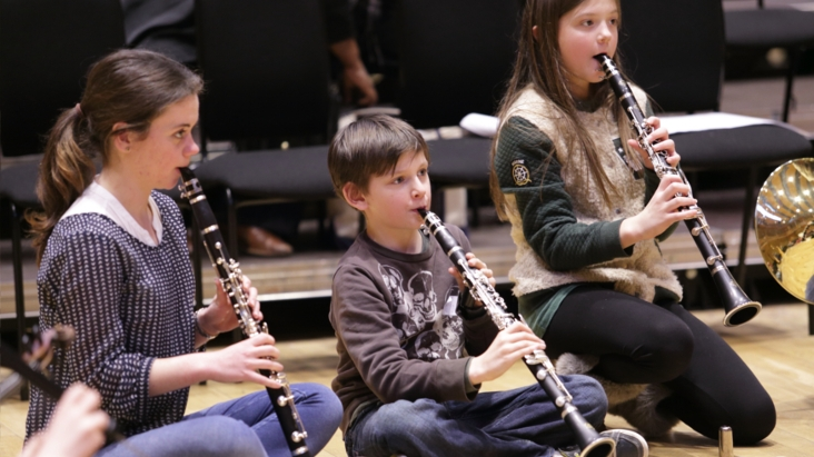 Participants playing at Music Maze workshop