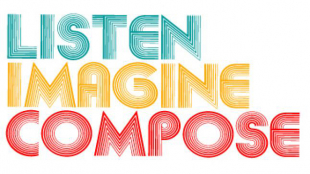 Listen Imagine Compose title graphic