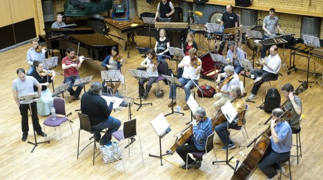 Oliver Knussen conducts BCMG rehearsal
