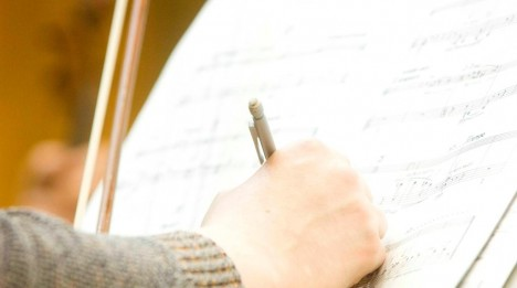 Hand writing in score
