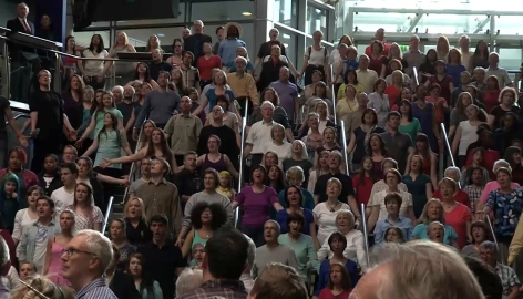 The world premiere of David Lang's Crowd Out (in 3 minutes)